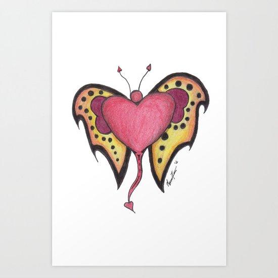 "Tattoo and T's Series ""Flutter"" Art Print"
