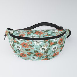 Christmas Jolly Floral Fanny Pack