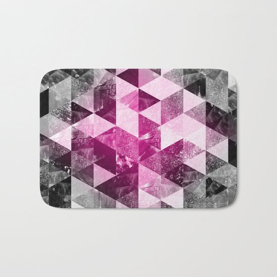 Abstract Geometric Background #4 Bath Mat