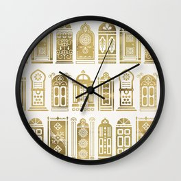 Moroccan Doors – Gold Palette Wall Clock