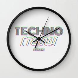 Techno Tekno Berlin (Glitch) Wall Clock