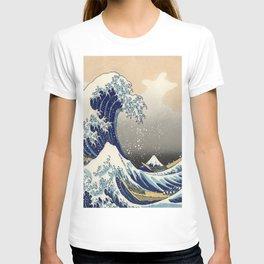 seascape painting japanese ukiyo e art the great wave off kanagawa T-shirt