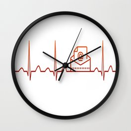 Mail Carrier Heartbeat Wall Clock