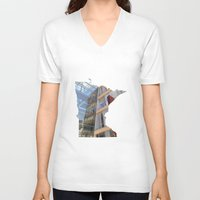 minnesota V-neck T-shirts featuring Minnesota ii by Isabel Moreno-Garcia