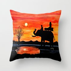 Carrie's Ride Throw Pillow