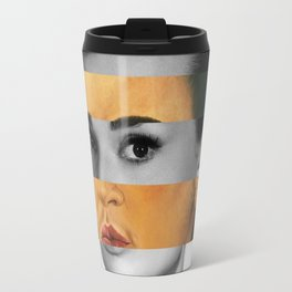 Frida Kahlo's Self Portrait with Monkey & Audrey Hepburn Travel Mug