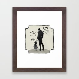 Father Daughter Time Framed Art Print