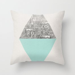 a faded tumult Throw Pillow