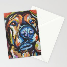Fun Plott Hound Dog Portrait bright colorful Pop Art Stationery Cards