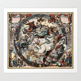 Constellations of the Southern Sky Art Print