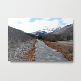 Miner's Mountain River Metal Print