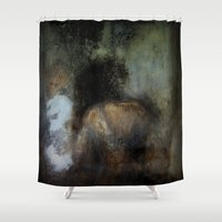 imagerybydianna Shower Curtains featuring among her declining days by Imagery by dianna