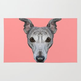 Whippet // Pink Rug