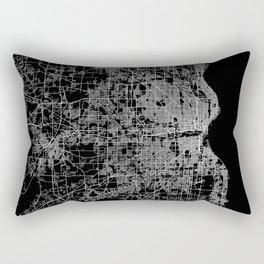 milwaukee map Rectangular Pillow
