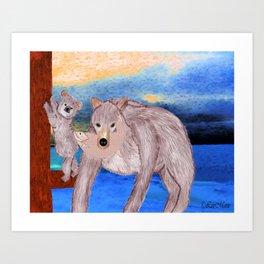 Yaza, Mom... Art Print