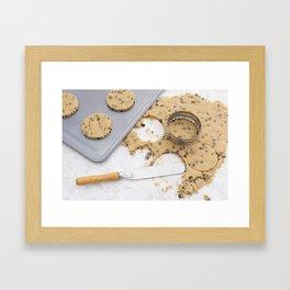 Making cookies Framed Art Print