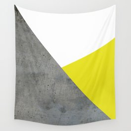 Concrete vs Corn Yellow Wall Tapestry