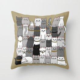 The Glaring - Scandinavian Palette Throw Pillow