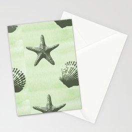 Mint Sea Shells Stationery Cards