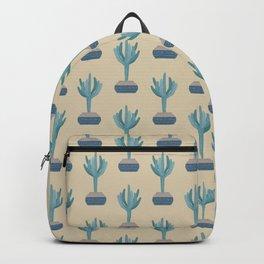 Saguaro cactus in a basket planter Backpack