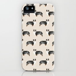 Australian Shepherd owners dog breed cute herding dogs aussie dogs animal pet portrait hearts iPhone Case