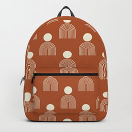 Full moon rainbow pattern collection SS02 Backpack