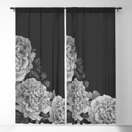 Flowers in the night Blackout Curtain