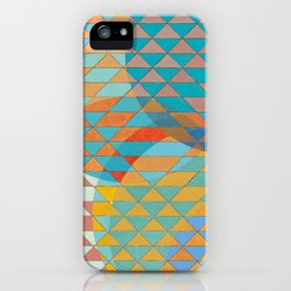 Triangle Pattern No. 11 Circles iPhone Case