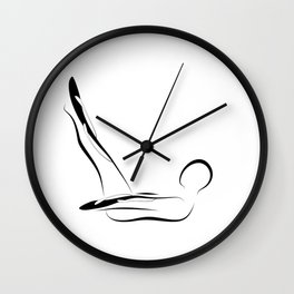 Pilates pose4 Wall Clock