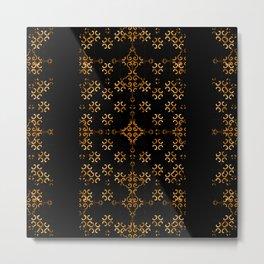 Dark Arabic Stripes Pattern Metal Print