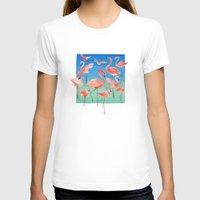 flamingos T-shirts featuring Flamingos  by Ninola