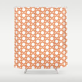 circle leaves pattern Shower Curtain