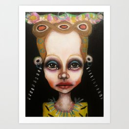 blue eyeshadow muksch Art Print