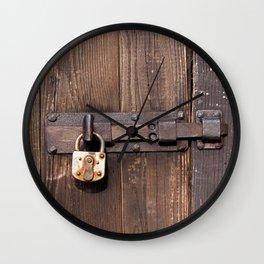 Locked - verschlossen Wall Clock