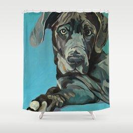 Great Dane Dog Portrait Shower Curtain
