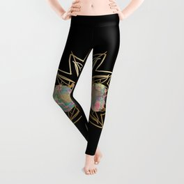 Opal Moon and Gold Stars Leggings