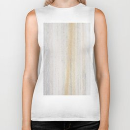 Rustic gray gold yellow vintage white marble Biker Tank