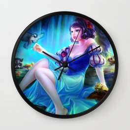 Sleepless Nights-Snow White Wall Clock