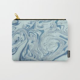 Marble Acrylic Blue Turquoise  Carry-All Pouch