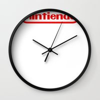 nintendo Wall Clocks featuring Nintendo by Carlos Bellod