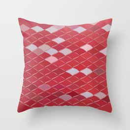 Red Carpark Abstract Low Polygon Background Throw Pillow