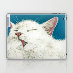 White Cat Grooming Laptop & iPad Skin