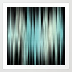 Blue And Green Abstract Art Print