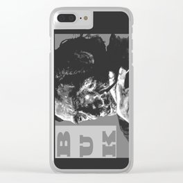 Charles Bukowski -Popart - bw Clear iPhone Case