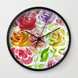 Field of Roses Wall Clock