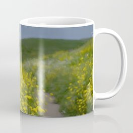 Springtime flowers hike toward the sea Coffee Mug