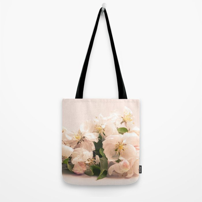 White flowers, spring photography Tote Bag