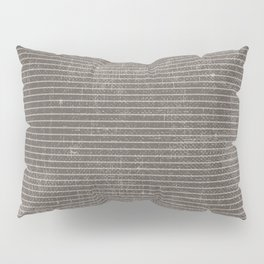Vintage pastel brown abstract geometrical stripes Pillow Sham