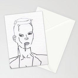 Grace Jones Smoking Stationery Cards