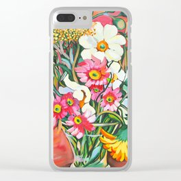 Yellow Gerbera Clear iPhone Case
